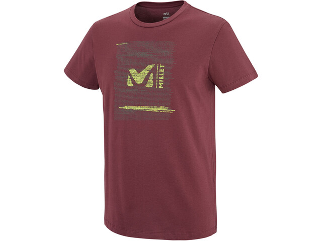 Millet Rise Up Short Sleeve Shirt Men burgundy